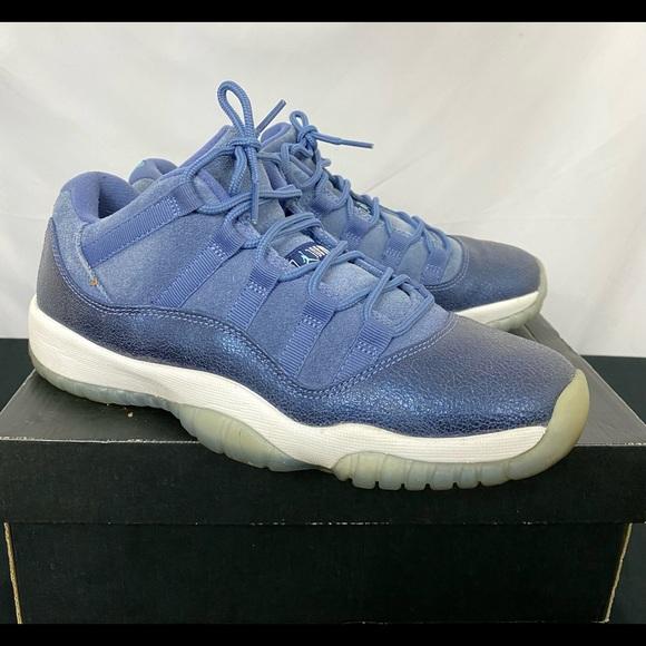 Air Jordan Retro 11 Low Blue Moon Kids Shoes 7Y